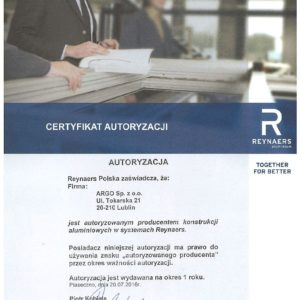 certyfikat Reynaers1